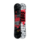 Gnu Carbon Credit BTX Wide Snowboard 2013, Red, medium