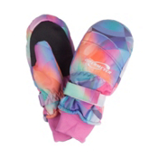 Obermeyer Radiator Print Girls Mittens, Kaleidoscope Print, medium
