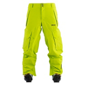 Armada Overshoot Mens Ski Pants, Lime, medium