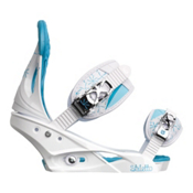 Burton Stiletto Womens Snowboard Bindings 2013, White-Blue, medium