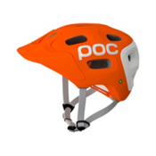POC Trabec Race Mens Fitness Helmet, Orange-White, medium