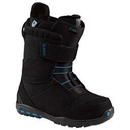 Burton Axel Womens Snowboard Boots, Black-Blue, 256