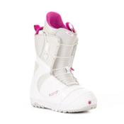 Burton Mint Womens Snowboard Boots, White-Gray-Pink, medium
