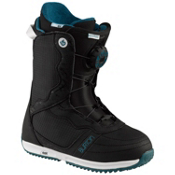 Burton Bootique Womens Snowboard Boots, Black-White, medium