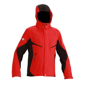 Descente Swiss World Cup Mens Insulated Ski Jacket, Electric Red-Black, medium