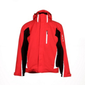 Descente Charger Mens Insulated Ski Jacket, Electric Red-Black, medium