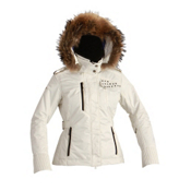 Descente Chloe Womens Insulated Ski Jacket, Ivory White, medium