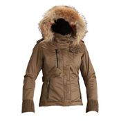 Descente Chloe Womens Insulated Ski Jacket, Dark Umber, medium