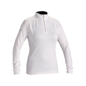 Descente Jada T-Neck Womens Mid Layer, Super White, medium