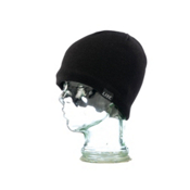 Line Skully Beanie Hat, Black, medium