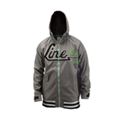 Line Hacket Hoodie, Grey, medium