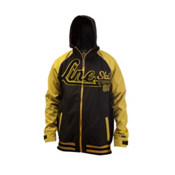 Line Hacket Hoodie, Yellow, medium