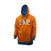 Line Stance Pullover Hoodie, Orange, medium