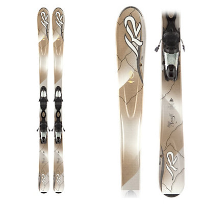 K2 SuperSmooth Womens Skis with K2/Marker ERP 10.0 Bindings, , large