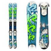 K2 Indy 4.5 Kids Skis with Marker Fastrak 2 4.5 Bindings, , medium