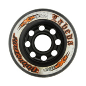 Labeda Addiction XXX Grip Inline Hockey Skate Wheels - 4 Pack, Clear-Black, medium