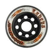 Labeda Addiction XXX Grip Inline Hockey Skate Wheels - 4 Pack, Clear-Black, medium