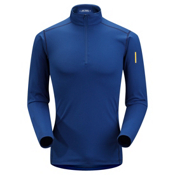 Arc'teryx Phase AR Zip Neck Mens Long Underwear Top, Olympus Blue, medium
