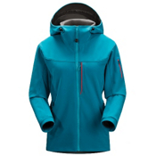 Arc'teryx Gamma MX Womens Soft Shell Ski Jacket, Bondi Blue, medium