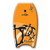 360 Inc. Makaha 39 Body Board, Orange, medium