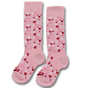 Hot Chillys Heart Dance Medium Girls Ski Socks, , medium