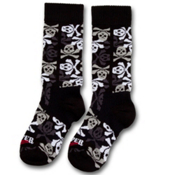 Hot Chillys Pirates Med Cushion Kids Ski Socks, Small, medium
