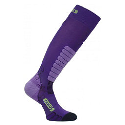 Euro Sock Sweet Silver Womens Ski Socks, Purple, 256