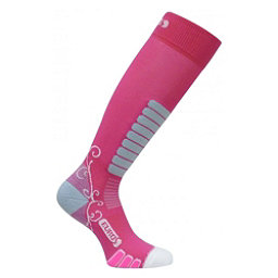 Euro Sock Sweet Silver Womens Ski Socks, Fuchsia, 256