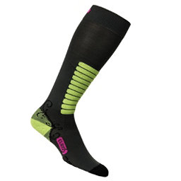 Euro Sock Sweet Silver Womens Ski Socks, Black, 256