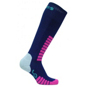 Euro Sock Sweet Silver Womens Ski Socks, Navy, medium