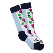 Hot Chillys Flower Power Medium Girls Ski Socks, , medium