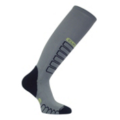 Euro Sock Compression Ski Socks, Grey, medium