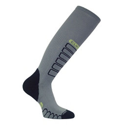 Euro Sock Compression Ski Socks, Grey, 256