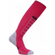 Euro Sock Compression Ski Socks, Pink, medium