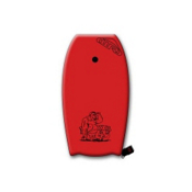360 Inc. XXXL 45 Body Board, Red, medium