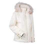 Nils Jacquie Real Fur Womens Insulated Ski Jacket, Ivory, medium