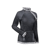 Nils Ciaran Womens Sweater, Black Leather-White Noise, medium