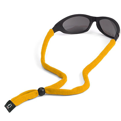 Chums Original Cotton Hurricane Retainer for Sunglasses, Yellow, large