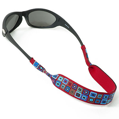 Chums Neoprene Prints Mountain Retainer for Sunglasses, Red, large