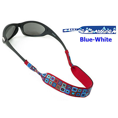 Chums Neoprene Prints Mountain Retainer for Sunglasses, Blue-White, large