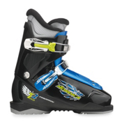 Nordica FireArrow Team 2 Kids Ski Boots, Black-Light Blue, medium