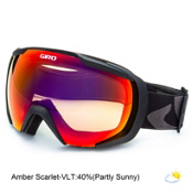 Giro Onset Goggles, Black Icon-Amber Scarlet, medium