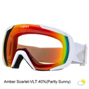 Giro Onset Goggles, White Icon-Amber Scarlet, medium