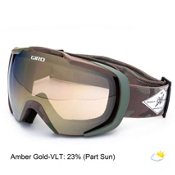 Giro Onset Goggles, Matte Tank Camo-Amber Gold, medium