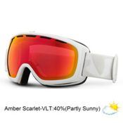 Giro Basis Goggles, White Icon-Amber Scarlet, medium