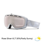 Giro Basis Goggles, White Icon-Rose Silver, medium