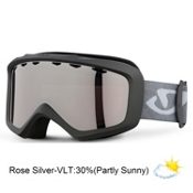 Giro Charm Womens Goggles 2013, Titanium Polygone-Rose Silver, medium