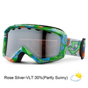 Giro Grade Plus Kids Goggles 2013, Green Monsterish-Rose Silver, medium