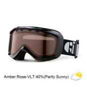 Giro Grade Kids Goggles 2013, Black-Amber Rose 40, medium
