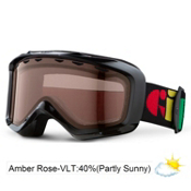 Giro Grade Kids Goggles 2013, Black Multi-Amber Rose 40, medium